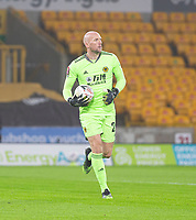 8th January 2021; Molineux Stadium, Wolverhampton, West Midlands, England; English FA Cup Football, Wolverhampton Wanderers versus Crystal Palace; Wolverhampton Wanderers Goalkeeper John Ruddy running with the ball looks for an outlet in his defense