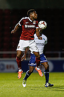 JJ Hooper of Northampton Town during The Checkatrade Trophy match between Northampton Town and Wycombe Wanderers at Sixfields Stadium, Northampton, England on 30 August 2016. Photo by David Horn / PRiME Media Images.