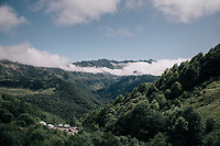 view from the Col d'Agnes<br /> <br /> 104th Tour de France 2017<br /> Stage 13 - Saint-Girons › Foix (100km)