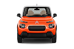 Car photography straight front view of a 2016 Citroen E-Mehari 3 Door Convertible Front View