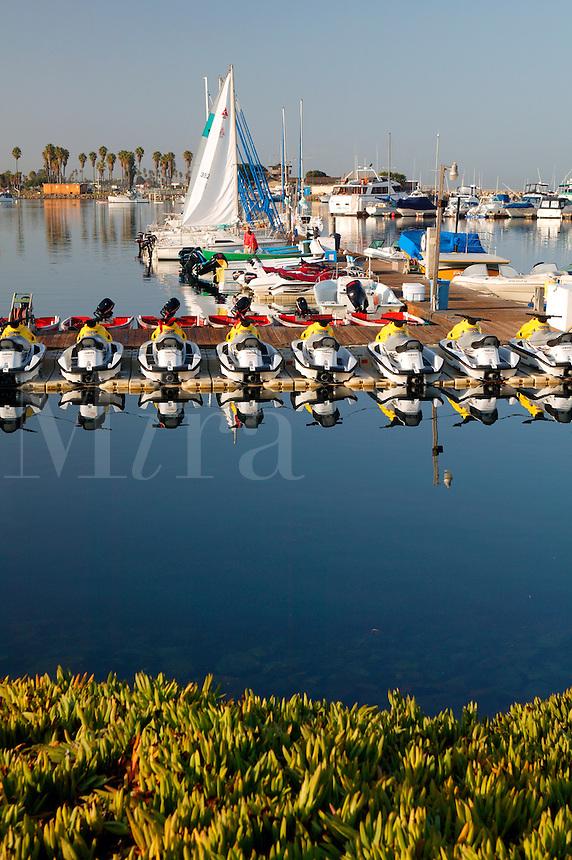 Boats in the Quivira Basin, Mission Bay, San Diego, California