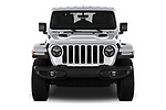 Car photography straight front view of a 2018 Jeep Wrangler Unlimited Sahara 5 Door SUV