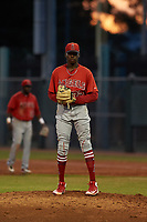 AZL Angels relief pitcher Jean Carlos Lucas (27) during a game against the AZL Giants Orange at Giants Baseball Complex on June 17, 2019 in Scottsdale, Arizona. AZL Giants Orange defeated AZL Angels 8-4. (Zachary Lucy/Four Seam Images)