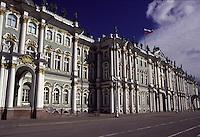 San Pietroburgo la facciata principale e l'ingresso del Museo dell'Hermitage