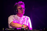 © Joel Goodman - 07973 332324 . 26/08/2016 . Manchester , UK . Screw the DJ performs on the Main Stage in Manchester's Gay Village for 2016 Manchester Gay Pride Big Weekend . Photo credit : Joel Goodman