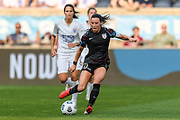 BRIDGEVIEW, IL - JULY 18: Vanessa DiBernardo #10 of the Chicago Red Stars plays the ball during a game between OL Reign and Chicago Red Stars at SeatGeek Stadium on July 18, 2021 in Bridgeview, Illinois.