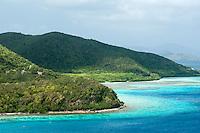 Leinster Bay viewed from the Johnny Horn Trail<br /> Virgin Islands National Park<br /> St John USVI