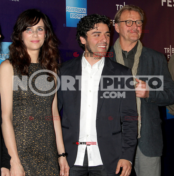 April 21, 2012 Kristen Wiig, Oscar Isaac and David Rasche attend the premiere of  Revenge for Jolly -2012 Tribeca Film Festival at the Chelsea Clearview Cinemas in New York City. ©RW/MediaPunch Inc.