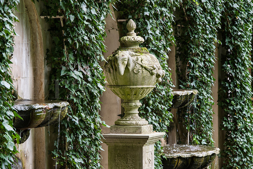Old world formal Italian garden at Longwood Gardens, Pennsylvania, USA