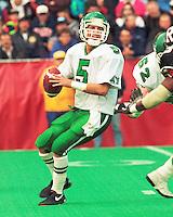 Kent Austin Saskatchewan Roughriders quarterback 1991. Copyright photograph Scott Grant/