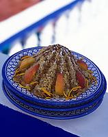 """Afrique/Maghreb/Maroc/Essaouira : Couscous Seffa (sucré) - Recette de Fatima-Zohra Lakrik cuisinère de la villa """"Maroc"""""""