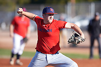 Dalton Taylor (54), from Kennewick, Washington, while playing for the Red Sox during the Under Armour Baseball Factory Recruiting Classic at Gene Autry Park on December 30, 2017 in Mesa, Arizona. (Zachary Lucy/Four Seam Images)