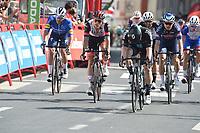 3rd September 2021; Tapia to Monforde de Lemos, Asturias, Spain; stage 19 of Vuelta a Espanya cycling tour;  Uae - Emirates 2021, Dsm Trentin, Matteo Dainese, Alberto Monforte De Lemos