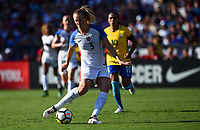 San Diego, CA - Sunday July 30, 2017: Samantha Mewis during a 2017 Tournament of Nations match between the women's national teams of the United States (USA) and Brazil (BRA) at Qualcomm Stadium.