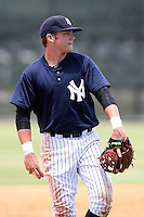 GCL Yankees Dante Bichette Jr #22 during a game against the GCL Phillies at the New York Yankees Minor League Complex on June 24, 2011 in Tampa, Florida.  The Yankees defeated the Phillies 9-0.  (Mike Janes/Four Seam Images)