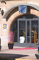 The entrance front of the high class gastronomic restaurant paul and Norbert on Strandvagen Ostermalm Stockholm, Sweden, Sverige, Europe