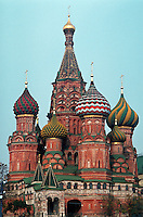 St. Basil's Cathedral in Red Square. Moscow, Russia.