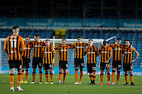 The Hull City team watch on during the penalty shootout<br /> <br /> Photographer Alex Dodd/CameraSport<br /> <br /> Carabao Cup Second Round Northern Section - Leeds United v Hull City -  Wednesday 16th September 2020 - Elland Road - Leeds<br />  <br /> World Copyright © 2020 CameraSport. All rights reserved. 43 Linden Ave. Countesthorpe. Leicester. England. LE8 5PG - Tel: +44 (0) 116 277 4147 - admin@camerasport.com - www.camerasport.com