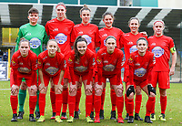 Woluwe team photo taken before a female soccer game between FC Femina White Star Woluwe and Sporting Charleroi on the 10 th matchday of the 2020 - 2021 season of Belgian Scooore Womens Super League , Saturday 19 th of December 2020  in Woluwe , Belgium . PHOTO SPORTPIX.BE | SPP | SEVIL OKTEM