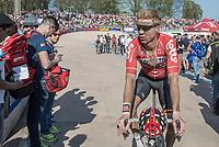 Marcel Sieberg (DEU/Lotto-Soudal) post-race<br /> <br /> 115th Paris-Roubaix 2017 (1.UWT)<br /> One day race: Compiègne > Roubaix (257km)