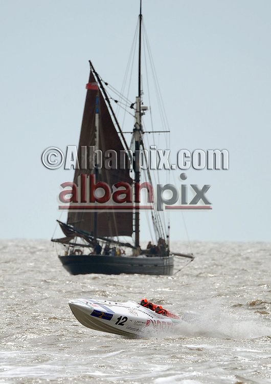 Offshore powerboat racing in Lowestoft, Suffolk