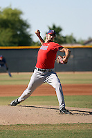 Michael Matuella pitches a live batting practice session at the Texas Rangers training facility on May 30, 2016 in Surprise, Arizona during extended spring training. Matuella, Texas' 2015 2nd round draft pick from Duke, is recovering from Tommy John surgery (Bill Mitchell)