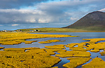 Isle of Lewis and Harris, Scotland: Tidal salt ponds near Northton,South Harris Island