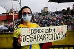 Colombians march asking for the missing people during protests
