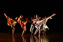 London, UK. 07.03.2020. Richard Alston Dance Company in dress rehearsal of VOICES AND LIGHT FOOTSTEPS ahead of the company's final performances on 7th & 8th March 2020. the dancers are: Elly Braund, Niall Egan, Alejandra Gissler, Joshua Harriette, Jennifer Hayes, Monique Jonas, Nahum McLean, Nicholas Shikkis, Jason Tucker, Ellen Yilma. Photograph © Jane Hobson.