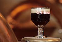 Europe/Belgique/Wallonie/Province de Hainaut/Env de Chimay : Abbaye de Scourmont - Verre de bière-Bière Trappiste