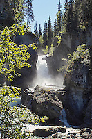 Liberty Falls are a popular stop for travelers headed to the Wrangell-St. Elias Mountain Range in Alaska.