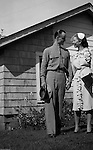 Valley Cottage NY - Brady and Marjorie Stewart on their wedding day; June 4th, 1944.  Brady and Marjorie were married near New York City where Brady was stationed during the war.  The reception was at Marjorie's home in Valley Cottage, New York.  The parents, Jack and Catherine Zapp and Brady and Sarah Stewart were in attendance.  After the ceremony, they were off to Martha's Vineyard for their honeymoon