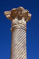 Zypern (Nord), Säule bei den römischen Bädern in Salamis