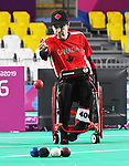 Marco Dispaltro competes in Boccia at the 2019 ParaPan American Games in Lima, Peru-29aug2019-Photo Scott Grant