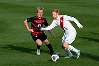 Chester, PA - Sunday December 10, 2017: Derek Waldeck, Cory Thomas. Stanford University defeated Indiana University 1-0 in double overtime during the NCAA 2017 Men's College Cup championship match at Talen Energy Stadium.