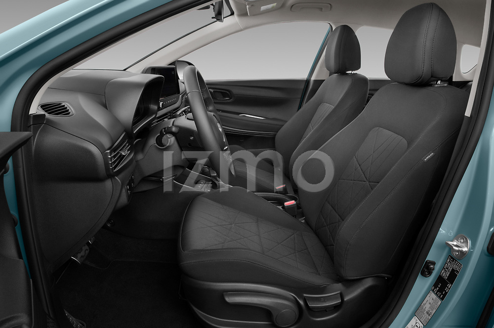 Front seat view of 2021 Hyundai Bayon Techno 5 Door SUV Front Seat  car photos