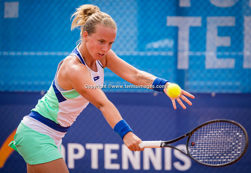 Amstelveen, Netherlands, 1 August 2020, NTC, National Tennis Center, National Tennis Championships,  Womans Final : Richel Hogenkamp (NED) <br /> Photo: Henk Koster/tennisimages.com