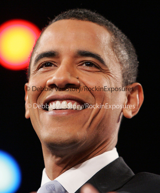 Barack Obama is Sworn In As The 44th U.S. President  in Washington DC,USA on January 20,2009 -.Archive photo from The CNN, LA Times, POLITICO Democratic Presidential Debate held at The Kodak Theatre in Hollywood, California on January 31,2008                                                                     Copyright 2007 Debbie VanStory/RockinExposures