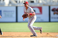 April 10, 2010:  First Baseman Chris Marrero of the Harrisburg Senators during a game at Blair County Ballpark in Altoona, PA.  Harrisburg is the Double-A Eastern League affiliate of the Washington Nationals.  Photo By Mike Janes/Four Seam Images