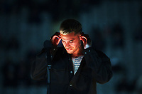 Stan Walker performs before the Bledisloe Cup rugby match between the New Zealand All Blacks and Australia Wallabies at Eden Park in Auckland, New Zealand on Saturday, 7 August 2021. Photo: Dave Lintott / lintottphoto.co.nz