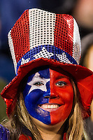 United States (USA) fan. The United States (USA) and Germany (GER) played to a 2-2 tie during an international friendly at Rentschler Field in East Hartford, CT, on October 23, 2012.