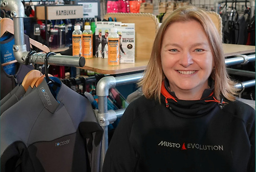 Antonia of Viking Marine with some tips for maintaining wetsuits