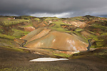 Massif rhyolithique de la caldeira de Torfajokull (glacier). Islande..