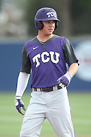 Derek Odell (5) of the TCU Horned Frogs before a game against the Loyola Marymount Lions at Page Stadium on March 16, 2015 in Los Angeles, California. TCU defeated Loyola, 6-2. (Larry Goren/Four Seam Images)