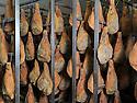 01/12/14 - PARLAN - CANTAL - FRANCE - Entreprise de salaisons LABORIE. Sechage des jambons de montagne a l air libre - Photo Jerome CHABANNE