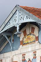 France, Gironde (33),Bassin d'Arcachon, Arcachon:  Détail des villas à coté du port//  France, Gironde, Bassin d'Arcachon, Arcachon:  Details of villas near the port