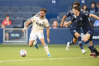KANSAS CITY, KS - JUNE 26: Diego Rossi #9 Los Angeles FC with the ball during a game between Los Angeles FC and Sporting Kansas City at Children's Mercy Park on June 26, 2021 in Kansas City, Kansas.