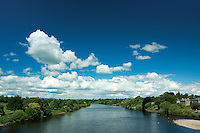 The River Tay from Smeaton's Bridge, Perth, Perthshire