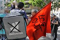 """- Milano, 1° maggio 2019, manifestazione OccupyNoLo contro la, la speculazione immobiliare, i processi di gentrificazione e di esplusione delle fasce più deboli e per la difesa dei """"riders"""" e altri lavoratori atipici.<br /> <br /> - Milan, May 1, 2019, OccupyNoLo, demonstration against the real estate speculation, the processes of gentrification and the outbreak of the weakest, and for the defense of the rights of """"riders"""" and other atypical workers."""