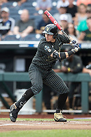 Vanderbilt Commodores outfielder JJ Bleday (51) at bat against the Michigan Wolverines during Game 2 of the NCAA College World Series Finals on June 25, 2019 at TD Ameritrade Park in Omaha, Nebraska. Vanderbilt defeated Michigan 4-1. (Andrew Woolley/Four Seam Images)